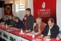 Ministro da Agricultura, Mendes Ribeiro Filho prestigia encontro da coordenadoria regional do PMDB em um dos seus primeiros compromissos oficiais desde que assumiu o ministério