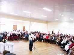 Evento reuniu aproximadamente 300 idosos vindos de municipios como Teutônia, Taquari, Westfália, Estrela, Colinas, Imigrante, Lajeado e Bom Retiro do Sul