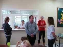 O prefeito Sidnei Eckert e a secretária de Educação Eluíse Hammes visitaram o educandário esta semana para acompanhar as tratativas de implantação do projeto