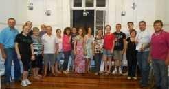 Parte dos jovens classificados e famílias estiveram reunidos na Casa do Museu na noite de segunda-feira