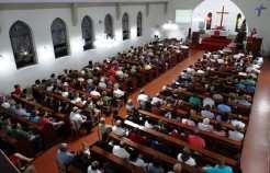 Celebração lotou igreja que contou com a presença de pastores de cidades vizinhas e do Pastor presidente nacional da Igreja Evangélica Luterana do Brasil(IELB) Egon Kopereck