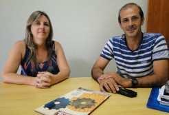 O professor Sérgio Nunes Lopes e a diretora Andréa Haupt, da Escola João Beda Körbes, já usaram celulares em sala de aula e destacam a importância da tecnologia, desde que de forma consciente