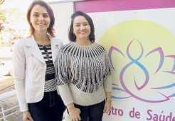 Nutricionista Elisabete e psicóloga Ivone coordenam o grupo de Reeducação Alimentar