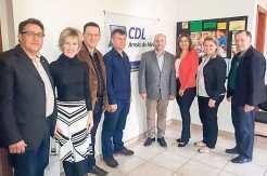 Presidente Vitor Koch foi recepcionado pela diretoria da CDL de Arroio do Meio