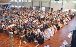 Aproximadamente 1000 pessoas participaram da celebração ecumênica que ocorreu no ginásio Cristo Rei