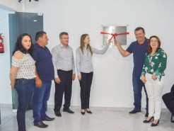 Auditório instalado em parceria com o Sicredi recebeu nome do primeiro morador de Pouso Novo