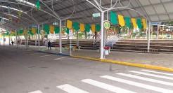 Rua de Eventos foi decorada com artigos produzidos pelas escolas municipais e oficinas do Cras