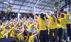 Muita vibração, alegria e emoção marcaram a comemoração da equipe Schtena que sagrou-se a grande campeã da 2ª Gincana Arroio do Meio