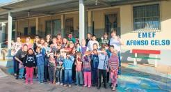 Escola Afonso Celso foi um dos destinos da comitiva de interiorização