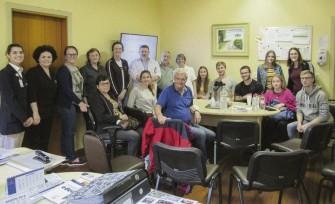 Visita ao Hospital São José, onde o grupo conheceu as instalações da casa de saúde