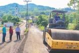 Pavimentação da avenida de Arroio Grande é uma das obras em execução, num investimento de R$ 265.552,00, proveniente do Ministério do Turismo