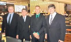 Prefeito Klaus e vereadores acompanharam sessão do Congresso Nacional, no Plenário da Câmara dos Deputados