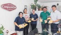 Representantes da Administração Municipal em visita à empresa Campos do Sul, instalada desde junho de 2018 no município