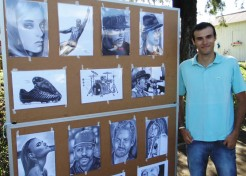 Leonardo Casaril já expôs seu trabalho em Pouso Novo, onde é reconhecido por seu talento