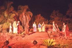 Evento iniciará às 20h no Cenário da Lagoa, que tem 500 metros quadrados e foi projetado com elementos naturais, para dar originalidade à história bíblica