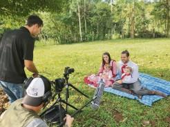 Equipe de filmagens do programa esteve no CTG
